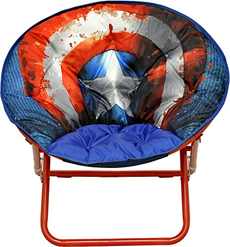 Marvel Avengers Captain America Shield Adult Saucer Chair by Marvel