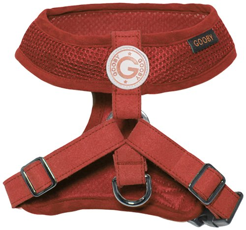 Gooby Choke Free Freedom Harness II for Dogs, Large, Red