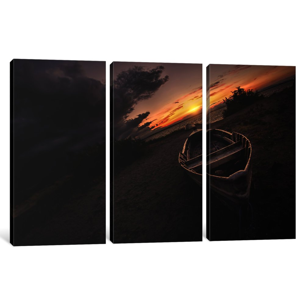 iCanvasART 3-Piece Lonely Canvas Print by Sebastien Lory 0.75 x 60 x 40-Inch