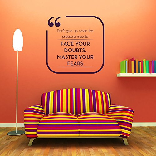 Vinyl Wall Quote Decal Elder Jeffrey R Holland Face Your Doubts Master Your Fears Home Decor Saying Sticker