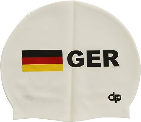 diapolo Alemania de natación de silicona Gorro de natación, Weiss: Amazon.es: Deportes y aire libre