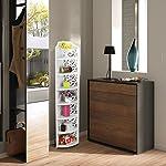 Finether Modular Cut-Out Quarter-Circle Wood-Plastic Composite Corner Shelf Storage Shelves Organizer Display Rack for Kitchen and Corner Shelf Unit