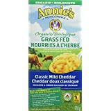 Annie's Homegrown Organic Grass Fed Classic Mild Cheddar Macaroni and Cheese, 170 Gram