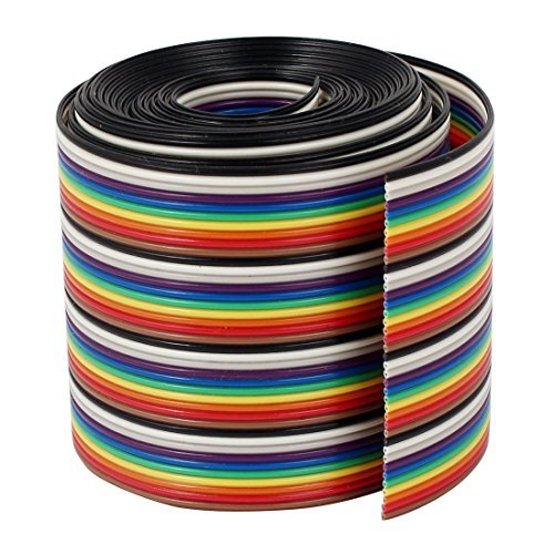 DealMux fita IDC Cabo Fio Rainbow Flat Cable cores do arco-íris, 2 m, 6,6', 40 Way, 40 Pin 6' PT_DLM-B01JRA853W