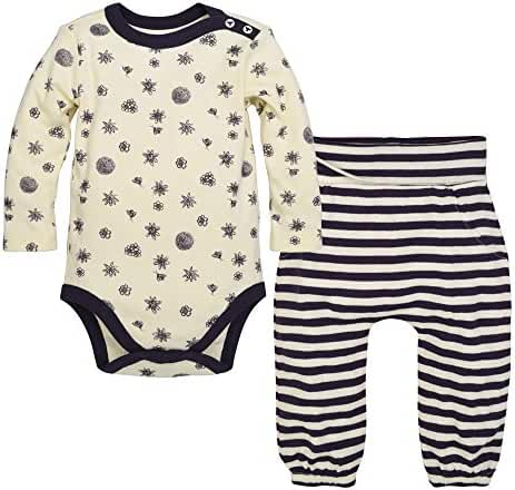 Burt's Bees Baby Baby Organic Long Sleeve Bodysuit and Pant Set