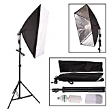 YISITONG Photo Studio Softbox Continuous Lighting Kit 50x70cm/20'x28' + Fully Adjustable Aluminum alloy Light Stand + 135W Photo Studio Light Bulb
