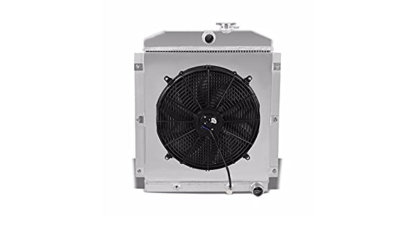 3 filas/Core alta capacidad Radiador de aluminio + Cool ventilador cubierta para 47 – 54 Chevy pastilla 3100/3600/3800 L6: Amazon.es: Coche y moto