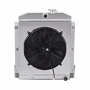 3 filas/Core alta capacidad Radiador de aluminio + Cool ventilador cubierta para 47 –