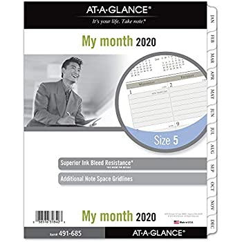 Amazon.com : Day-Timer 2020 Monthly Planner Refill, Two ...