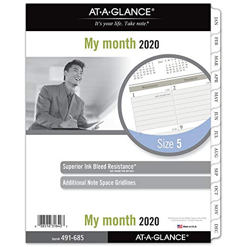 - AT-A-GLANCE 2020 Monthly Planner Refill, Day Runner, 8-1/2