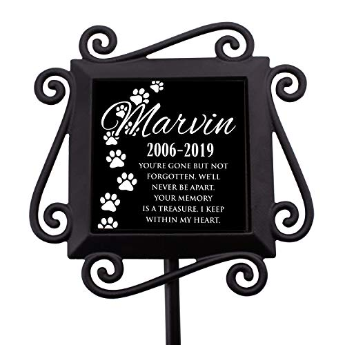 Personalized Memorial Gifts Garden Stakes - Grave Marker Memorial Gifts in Loving Memory of Custom Name - D2 ()