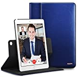 ESR iPad Air 2 Case, Premium Leather Business Multi-Functional Folio Stand Case Cover 360 Degree Rotating Hand Strap Pencil Holder Organizer Pocket Smart Auto Wake & Sleep for Apple iPad Air 2 (Blue)
