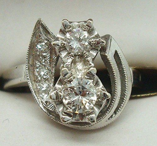 14K Gold Ring with .36ct Genuine Natural Diamonds In Pretty Mounting (#1933)
