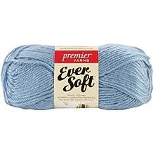 Premier Yarn 3 Pack Ever Soft Solid Yarn, Light Ocean