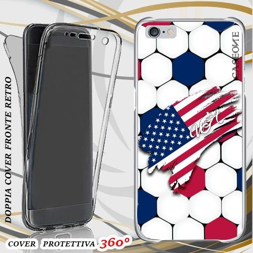 CUSTODIA COVER CASE COPPA AMERICA USA PER IPHONE 6 FRONT BACK
