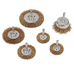 """Silverline 1/4"""" Shank Wire Wheel and Cup Brush, 6-Piece, 875834"""