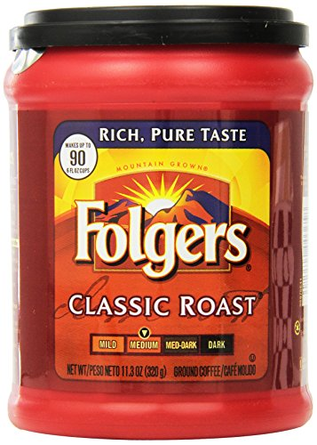 Folgers Classic Roast Ground Coffee, 11.3 Ounce