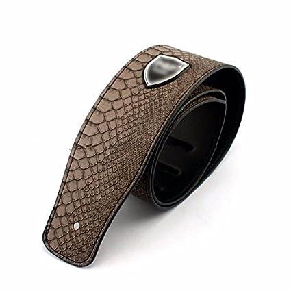 Kglobal correa de la guitarra de la guitarra ajustable patrón de la piel bajo eléctrico grueso
