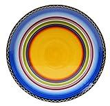 Certified International Tequila Sunrise Round Platter, 14.5-Inch