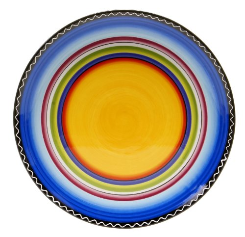 (Certified International Tequila Sunrise Round Platter, 14.5-Inch)