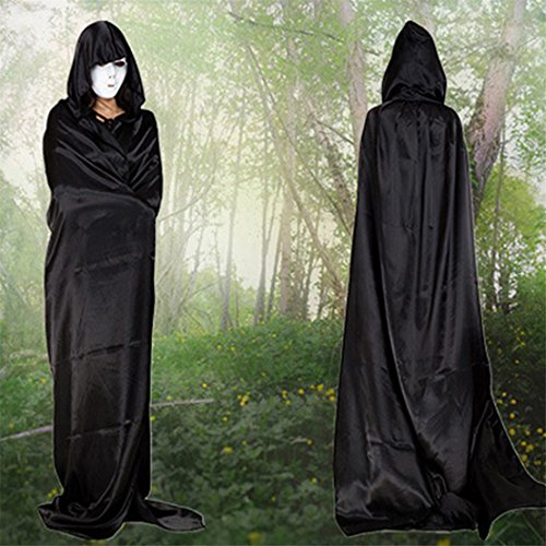 Halloween Adult Ideas (ShungHO Hooded Cloak Adult Christmas Halloween Party Hooded Cloak Vampire Role Play Costumes ,150cm)