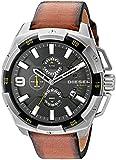 Diesel Men's DZ4393 Heavyweight Stainless Steel Brown Leather Watch