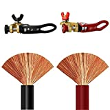 EDECOA 3 AWG 1-1.5 Meter Pure Copper Battery Cables Inverter Cables for Car, Power Inverter, RV, Boat