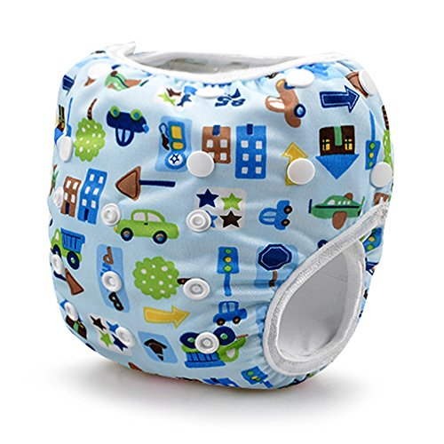 Price comparison product image Storeofbaby Baby Swim Diapers Reusable Adjustable Infant 0 3 Years (Lightblue)