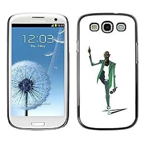 GOODTHINGS ( NO PARA S3 Mini ) Funda Imagen Diseño Carcasa Tapa Trasera Negro Cover Skin Case para Samsung Galaxy S3 I9300 - micrófono música dibujo del arte cantante hombre