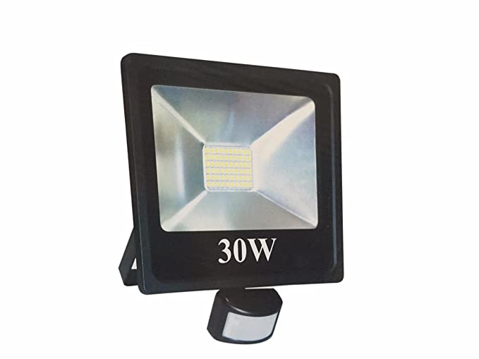 silamp Proyector LED Faro detector de movimiento crepuscular 30 W IP66