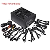 1600W Full Modular Power Supply Support Up to 6 GPU Fit for Coin Miner