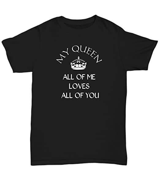 Image Unavailable. Image not available for. Color  Women s Valentine s Day  Shirt - My Queen - Gift For Wife ... 29e5507051