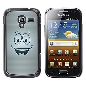 Qstar Arte & diseño plástico duro Fundas Cover Cubre Hard Case Cover para Samsung Galaxy Ace 2 I8160 / Ace2 II XS7560M ( Smiley Happy Face Symbol Cartoon Character)