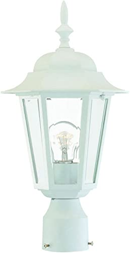 Acclaim 6117TW Camelot Collection 1-Light Post Mount Outdoor Light Fixture, Textured White