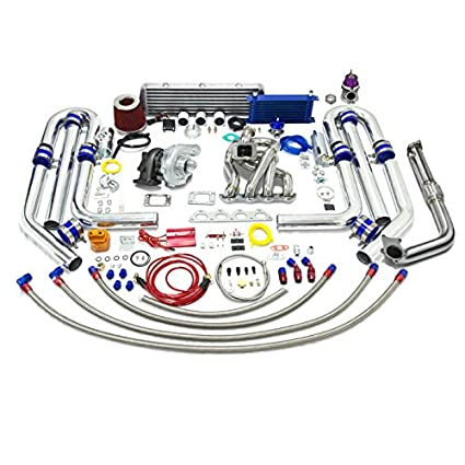 Amazon.com: High Performance Upgrade T04E T3 22pc Turbo Kit - Compatible with Honda B-Series Stainless Steel Manifold 60mm wastegate: Automotive