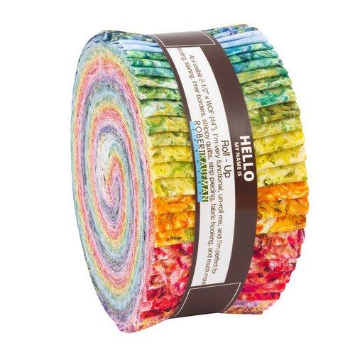 Claude Monet Roll Up 40 2.5-inch Strips Jelly Roll Robert Kaufman Fabrics RU-690-40 from Robert Kaufman Fabrics