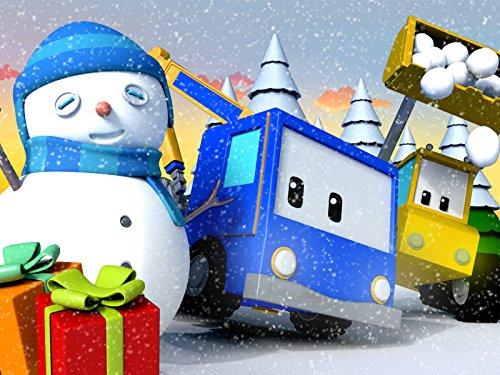 Mighty Trucks - 【Christmas】Snowman and Giant Sledge Slide/Christmas Preparation