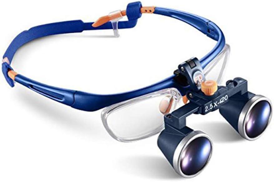 HyaPen 2.5X 420Mm Quirúrgico Médico Binocular Lupas Óptico Vaso Ajuste Gafas De Protección Marco Binocular Aumentador Lentes