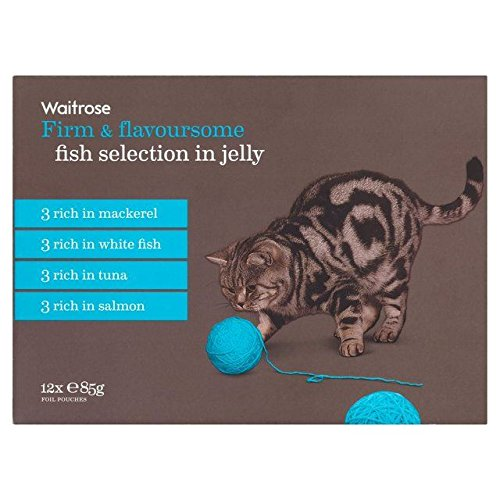 hot sale Cat Adult Pouch Fish Selection Waitrose 12 x 85g (PACK OF 2)