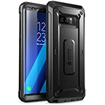 Samsung Galaxy Note 8 Case, SUPCASE Full-body Rugged Holster Case with Built-in Screen Protector for Galaxy Note 8 (2017 Release), Unicorn Beetle Shield Series - Retail Package(Black/Black)