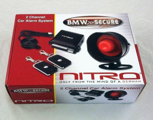 NITRO BMW-SECURE 2 Channel Car Alarm System With 2 Remote...