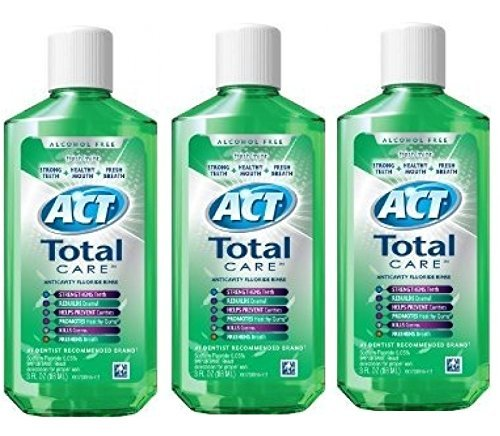 Act Total Care Mouth Rinse Fresh Mint 3 oz Travel Size (Pack of 3)