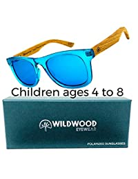 Kids Wayfarer Beech Wood Polarized Sunglasses by Wildwood - 4 to 8 years