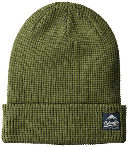 Columbia Men's Lost Lager Waffle Beanie, Peatmoss O/S