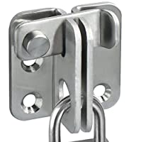Alise MS3001 Slide Bolt Latch Gate Latches safety Door Lock,Stainless Steel Brushed Finish