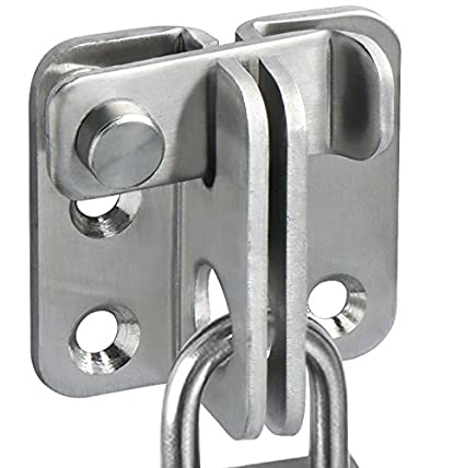 Alise MS3001 Flip Latch Gate Latches Safety Door Lock 55x45mm,Stainless  Steel Brushed Finish