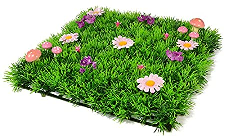 Props4shows luxury artificial grass mat square with pink flowers and props4shows luxury artificial grass mat square with pink flowers and toadstools mightylinksfo