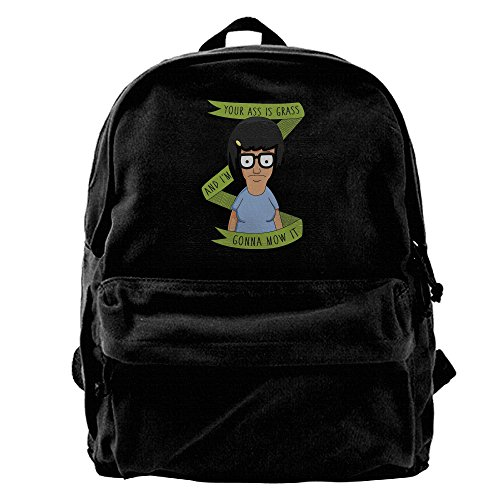 [ARMAN HUGO Tina Belcher Unisex One Size Personality Canvas Storage Bag Hiking Mountaineering Daypacks] (Bobs Burgers Couples Costume)