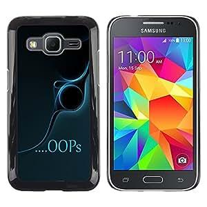 TopCaseStore / la caja del caucho duro de la cubierta de protección de la piel - Oops - Samsung Galaxy Core Prime SM-G360