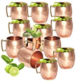 Set of 12 - Fashion.Women Copper Mug for Moscow Mules 16 Oz - 100% Pure Copper - Lacquered Finish - Solid Copper Best Quality Moscow Mule Mug, Cocktail Cup, Copper Mugs, Cocktail Mugs